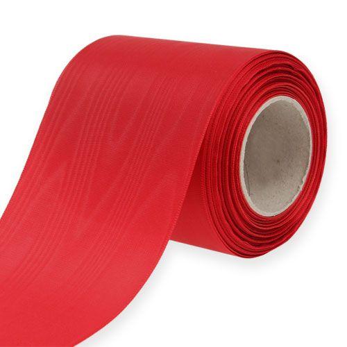 Ruban pour couronne rouge 100 mm 25 m