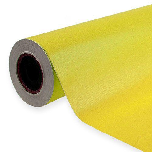 Papier de fleuriste jaune 25 cm, 100 m