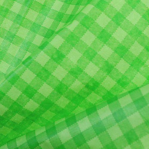 Manchette papier 37.5cm 100m mai damier vert