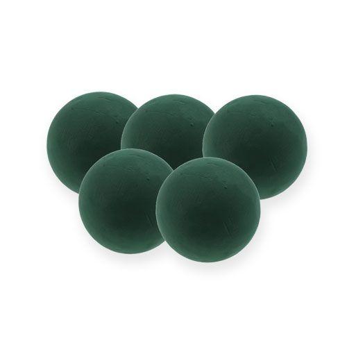 Boule mousse florale mini vert foncé Ø9cm 10pcs