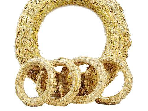 Couronnes de paille Commandez 10 pièces de flans de couronne de paille