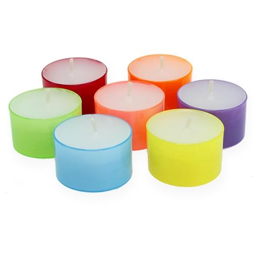 Bougies chauffe-plats colorées Ø 38 mm 40 p.