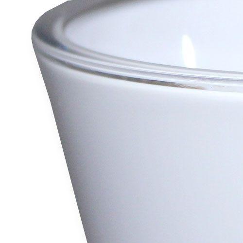 """Vase """"Fizzy"""" blanc, 1pce"""
