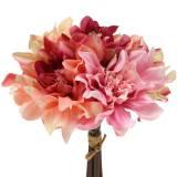 Bouquet Dahlia Bouquet 28cm rose, crème 6pcs