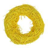 Couronne décorative jaune en rotin Ø 20 cm
