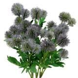Chardon Soie Fleur Bleu 56cm 3pcs