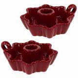Chandelier Céramique Rouge Ø12cm 2pcs