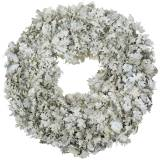 Couronne de chêne feuilles blanchies Ø38cm