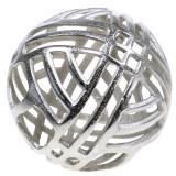 Sphère décorative en métal percé argent Ø20cm