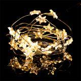 Guirlande d'étoiles à LED 20 amp. 2,3 m blanc chaud