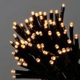 Guirlande lumineuse à LED 144 amp. noir/blanc chaud pour l'extérieur 1,2 m