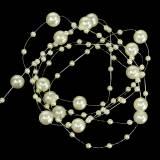 Collier de perles champagne Ø 3 – 8 mm L .3 m