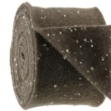 Bandeau à pots de fleurs en feutrine, brun à pois 15 cm x 5 m