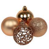 Boule de Noël cuivre-or Ø 6 cm 16 p.