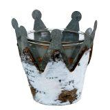 Photophore couronne avec bouleau Ø 11 cm H. 11,5 cm 1 p.