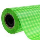 Papier de fleuriste à carreaux vert de mai 25 cm 100 m