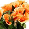 Fleurs artificielles bouquet de roses orange L 26 cm 3 p.