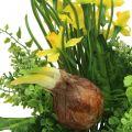 Bouquet de narcisses artificiel avec branches et oignons 38cm